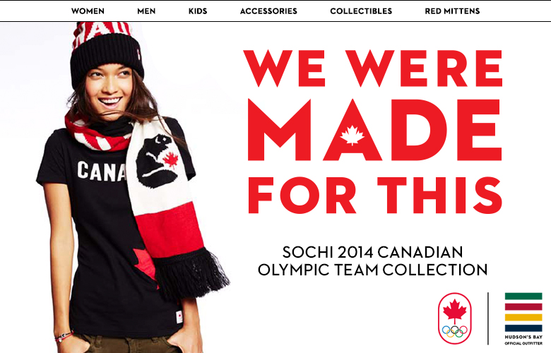 Canada's kit for Sochi 2014 has been designed by Hudson Bay and will be available for the public to buy