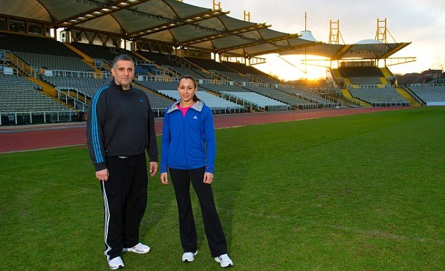 Jessica Ennis-Hill's coach Toni Minichiello, seen here with her during her victorious London 2012 appearance, has spoken of the lost legacy represented by the destruction of a Stadium at which Ennis-Hill has trained for many years