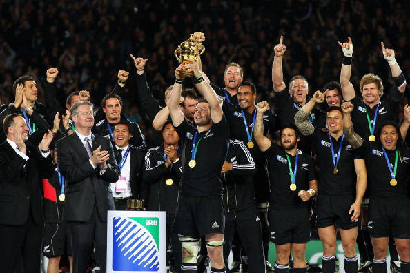 Kit McConnell has overseen three successful editions of the Rugby World Cup, including in 2011 when hosts New Zealand lifted the trophy ©Getty Images
