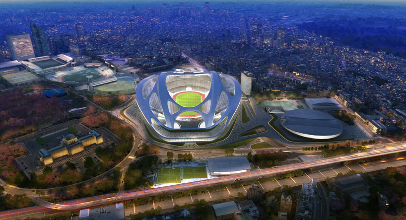 Zaha Hadid's futuristic redesign for the National Stadium in Tokyo has been criticsed by Japanese architects