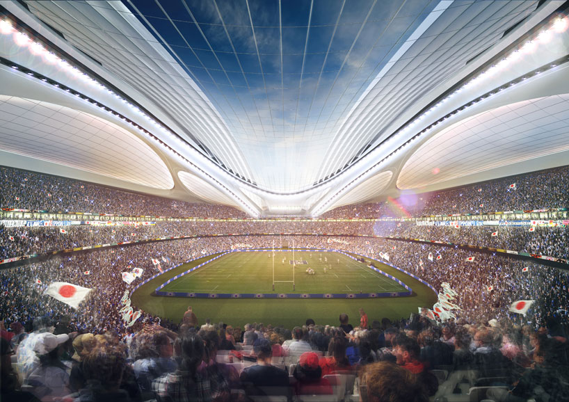 The new National Stadium in Tokyo will also host the final of the 2019 Rugby World Cup