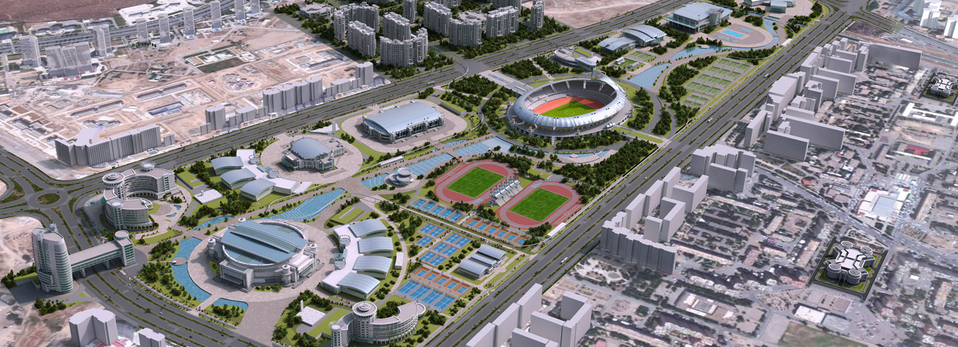 The Ashgabat Olympic Complex is hoping one day to host some of the world's major events ©Polimeks