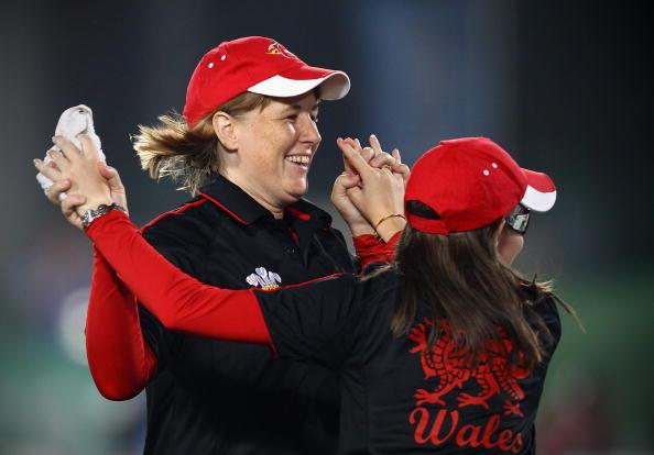 Anwen Butten won bronze in Delhi in 2010 alongside pairs teammate Hannah Smith ©Getty Images