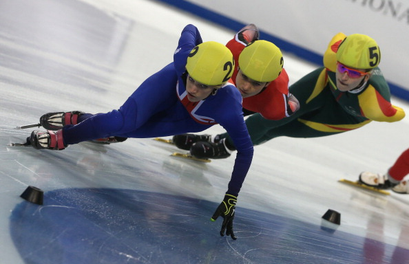 Elise Christie became the first Great British woman to win a medal at a World Championship when she took bronze in Debrecen, Hungary earlier this year ©Getty Images