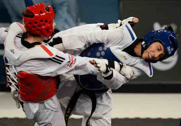 Jade Jones was in disbelief when her head shot was ruled out following a review from the Spanish coach ©Getty Images