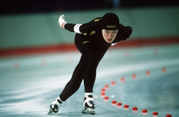 Before moving into politics Hashimoto competed at seven Olympic Games as a speed skater ©Bob Thomas Sports Photography/Getty Images