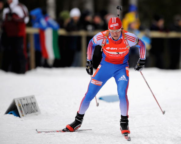Biathlete Dmitri Yaroshenko is another prominent Russian Winter athlete to have tested positive...he won two World Championship titles before being banned in 2009 ©Bongarts/Getty Images