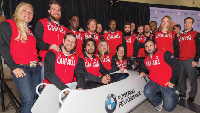 Canada has named the athletes that will represent the nation in bobsleigh at Sochi 2014 ©Canadian Olympic Committee