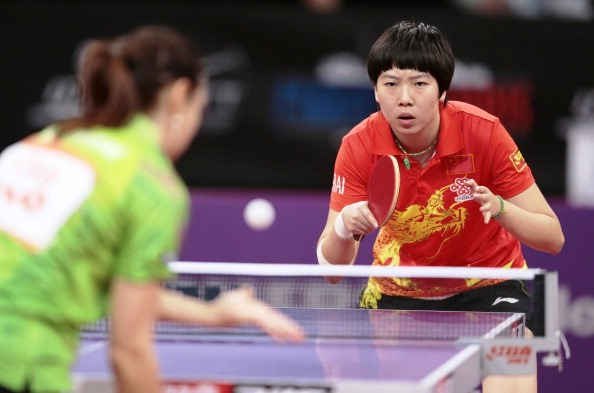 China's Li Xiaoxia is among the nominees for the inaugural ITTF Star Awards in Dubai ©AFP/Getty Images