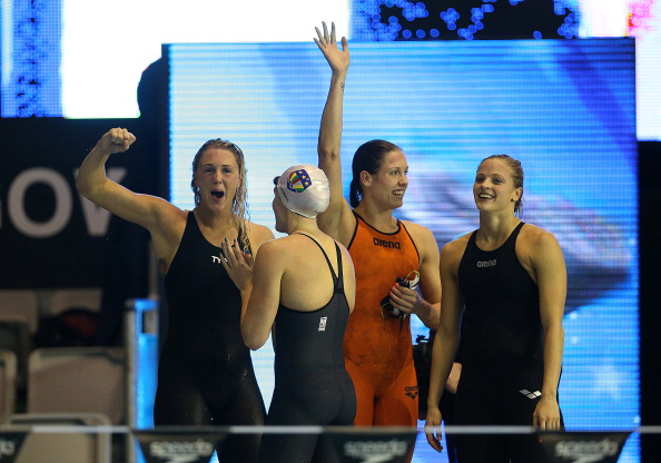 Europe finished the day on a high with victory in the women's medley relay ©Getty Images