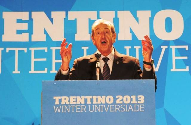 FISU President Claude-Louis Gallien welcomes athletes and officials from all over the world to Trentino for the 2013 Winter Universiade ©Daniele Mosna/Trentino 2013 Universiade