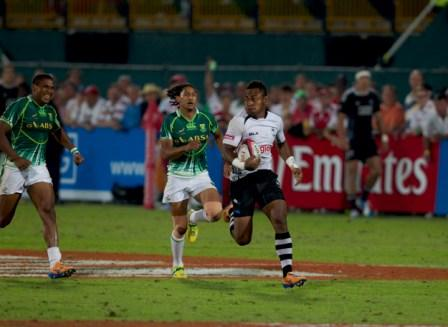 Fiji's Benito Masilevu was in fine form against South Africa, scoring a try to help his side lift the trophy for the first time since 1998 ©IRB/Martin Seras ima