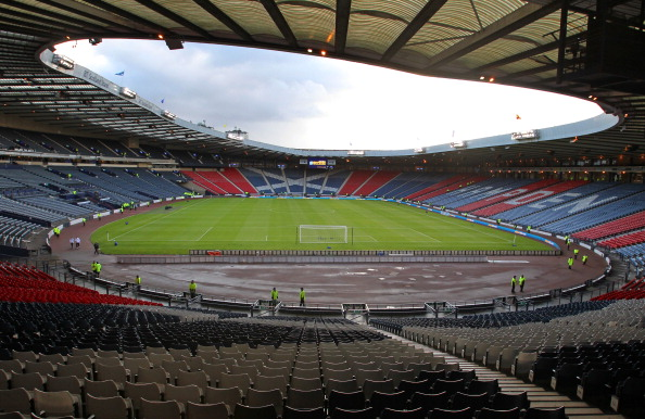 Hampden Park about to host an international football match in September ahead of construction work beginning ©AFP/Getty Images