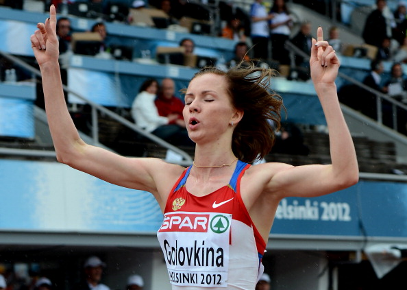 In October, European 5,000m champion Olga Golovkina became the 32nd Russian athlete to be banned in 2013 ©AFP/Getty Images