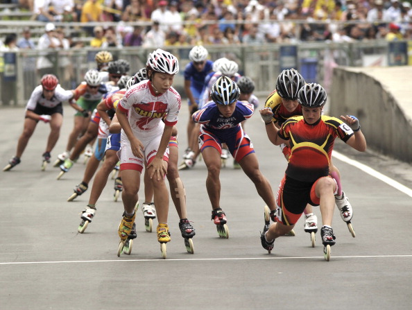 Inline speed skaters compete at the World Games held in Cali ©Latin Content WO/Getty Images