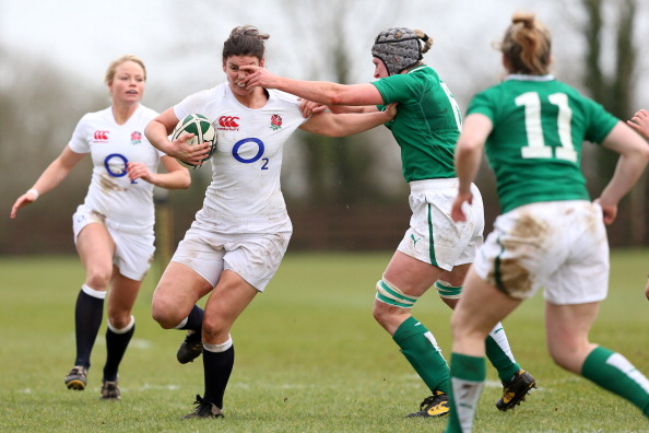 Fiona Coghlan's Ireland halt the English charge for the first time ever en route to their first Six Nations victory ©The Rugby Football Union Collection/Getty Images
