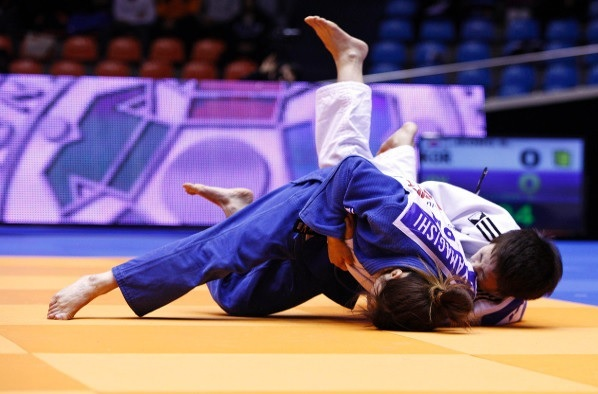Japan finish day one of the Jeju Grand Prix on top of the medal table with three golds ©IJF Media