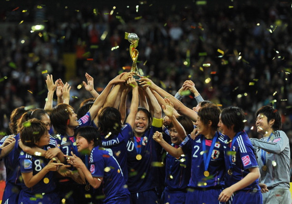 Japan won the last World Cup in 2011 and have announced plans to bid for the 2023 version ©AFP/Getty Images