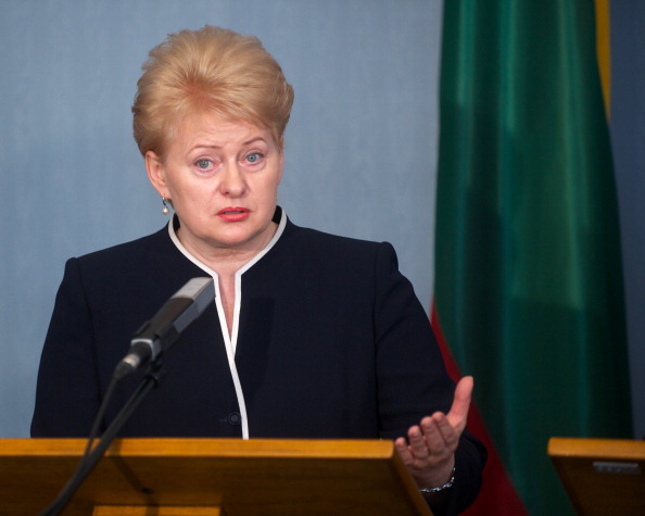Lithuanian President Dalia Grybauskaitė announced that she will not attend earlier this week ©AFP/Getty Images