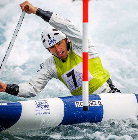 London 2012 silver medallist and current world champion David Florence will be hoping to impress at Lee Valley during next year's World Cup event ©AEphotos/Lee Valley Park