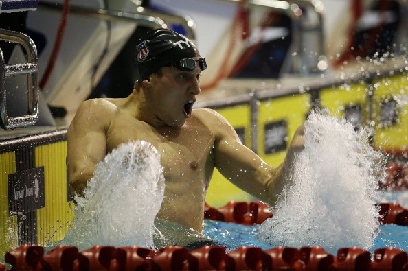 Michael McBroom won the 800m freestyle setting an American record on the way ©Getty Images