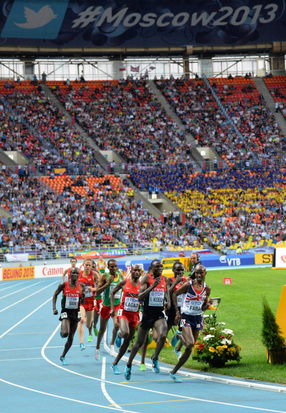Promises by Russian organisers that the Luzhniki Stadium would be full for every session of the IAAF World Championships failed to materialise ©AFP/Getty Images