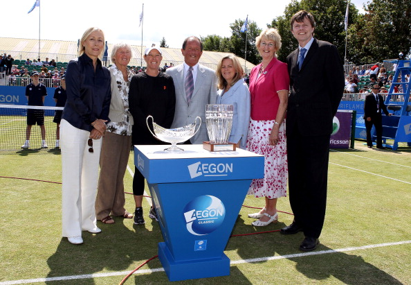 Sabin second right posing with figures from the British game in 2011 at Edgbaston ©Getty Images