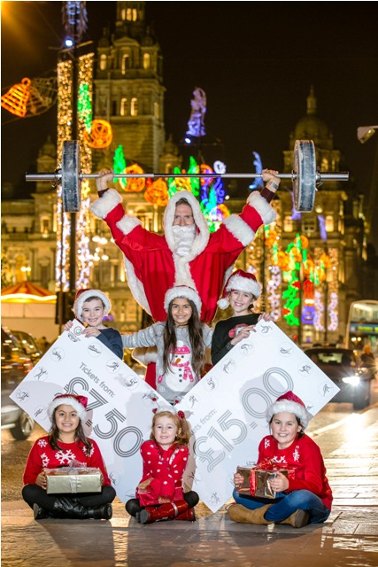 Santa Claus and his helpers have been reminding people that there are still tickets available to watch six sports at Glasgow 2014 ©Glasgow 2014