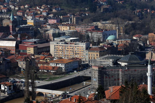 Sarajevo is still recovering from the impact of the 1990's wars ©AFP/Getty Images