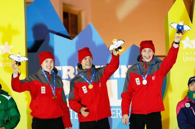 Ski jumpers Aleksander Zniszczoł, Bartłomiej Kłusek and Krzysztof Biegun contributed to a great day of success for Poland at Trentino 2013 ©Pierre Teyssot/Trentino 2013 Universiade