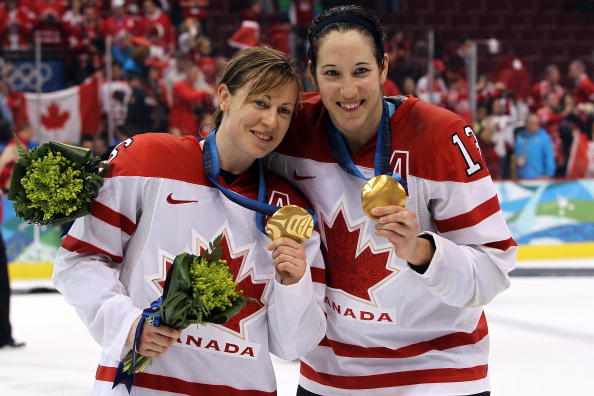 The Canadian women's ice hockey squad will be going to Sochi 2014 with their sights set on winning their fourth-straight Winter Olympic gold medal ©Getty Images