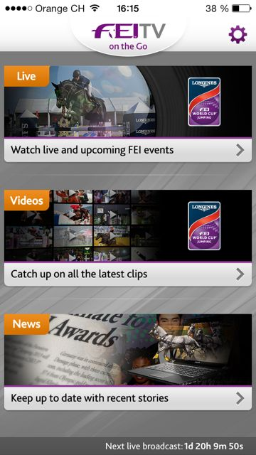 The FEI has launched a new TV on the Go iPhone App to mark St Nicholas Day ©FEI