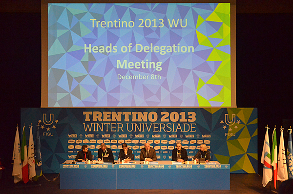 The Trentino 2013 Winter Universiade officially began today with the head of delegates meeting ©C Pierre/FISU