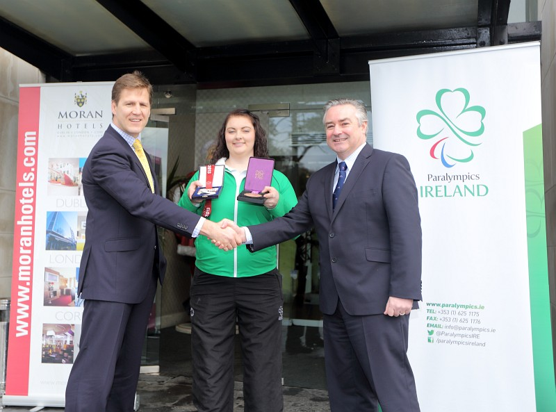 "Discus thrower Orla Barry has been announced as a ""brand ambassador"" under the new partnership ©Paralympics Ireland"