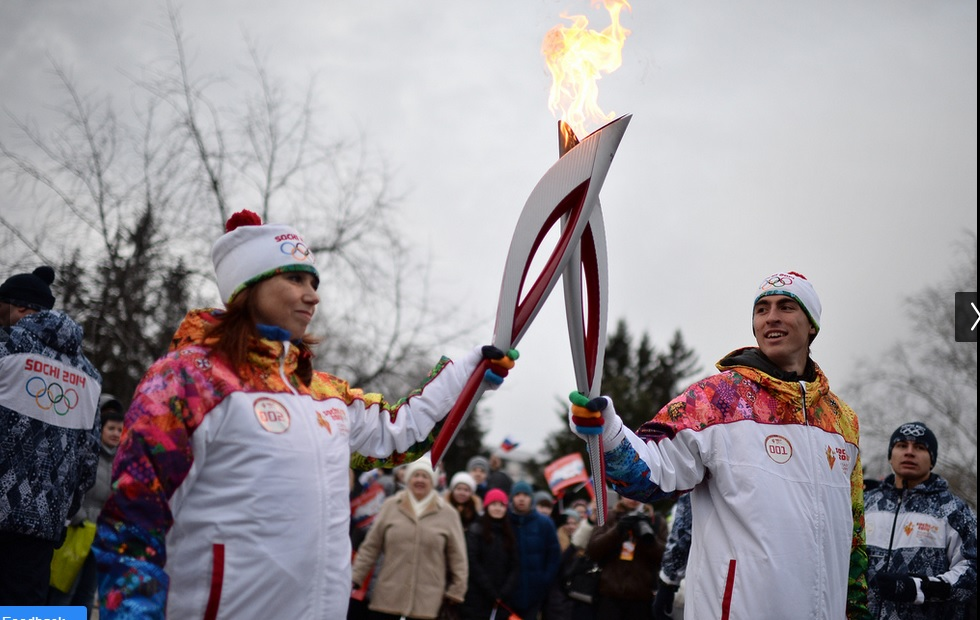 The same Torch used in Outer Space will be used in the Opening Ceremony next February ©Sochi 2014