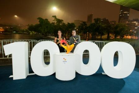 The two winners at the Brazilian Paralympic Awards celebrate 1,000 days to go until their home Games ©Alex Ferro/Rio 2016