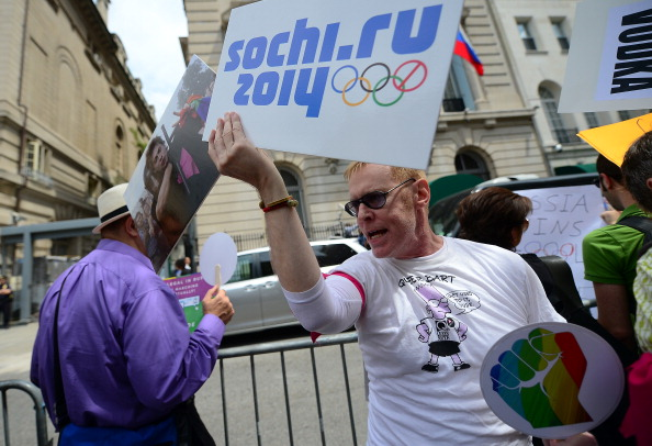 There has been widespread protests and international condemnation of Russian anti-gay rights laws ahead of Sochi 2014 ©Getty Images