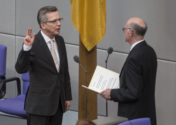 Thomas de Maiziere will lead the German delegation in Sochi ©Getty Images