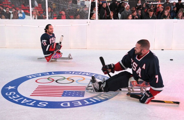 US players Josh Sweeney (left) and Taylor Lipsett will be looking to lay down a marker for Sochi 2014 in Toronto ©Getty Images