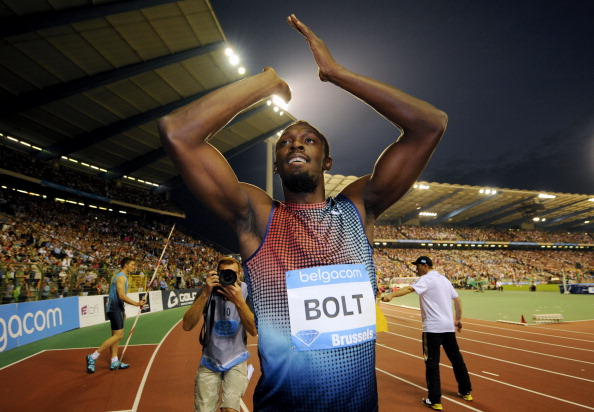 Usain Bolt has been named by AIPS as the Best Male Athlete of 2013 ©AFP/Getty Images