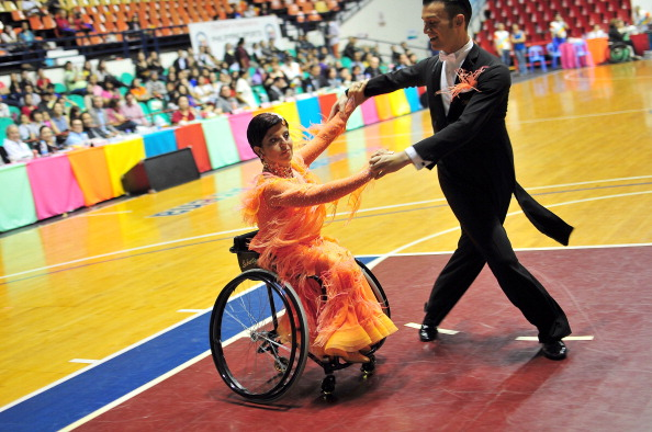 Wheelchair dance sport athletes competing earlier in 2013 ahead of the World Championships ©Getty Images