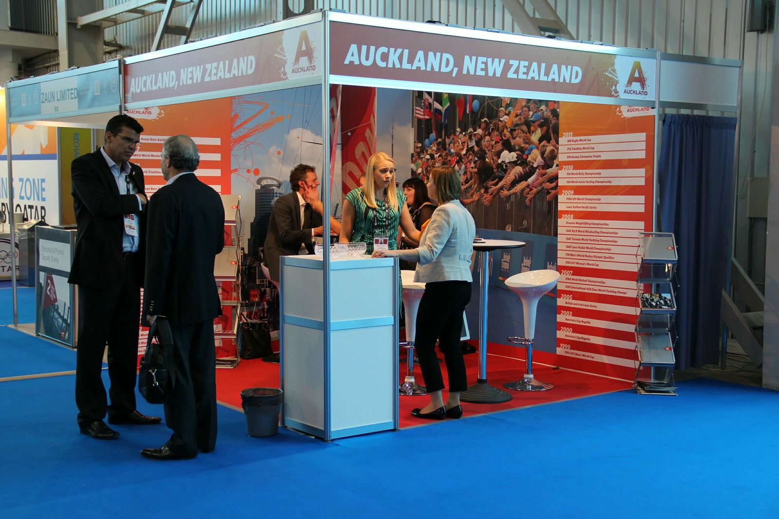 The Auckland, New Zealand Exhibition stand, SportAccord International Convention 2013 in Saint Petersburg, Russia