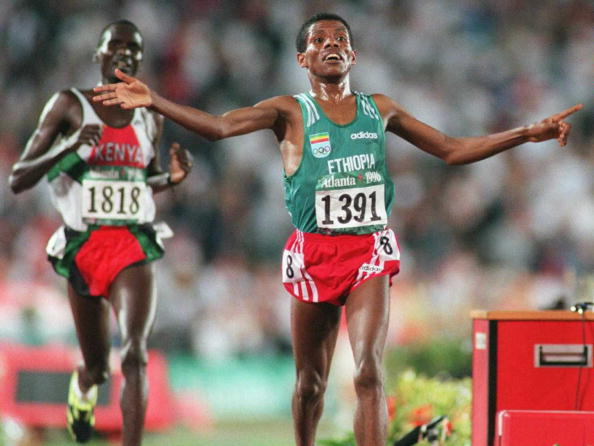 Ethiopia's Haile Gebrselassie was one of the stars of Atlanta 1996 when he won the gold medal in the 10,000 metres ©AFP/Getty Images