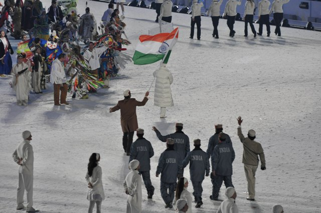 India will be denied the opportunity to march under its own flag at Sochi 2014, something they did at Vancouver 2010, because of the IOC suspension  ©Wikipedia