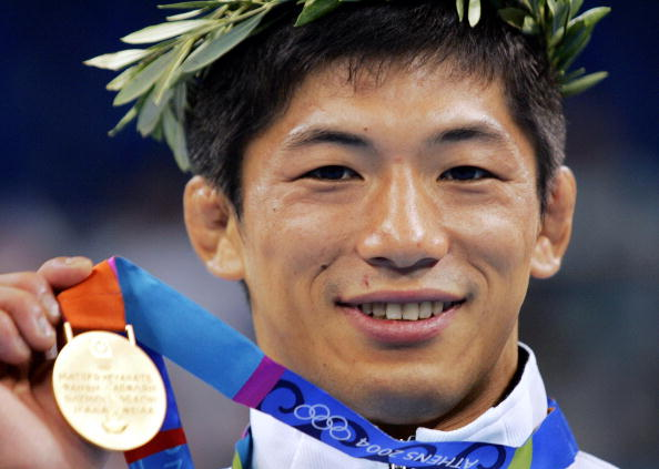 Masato Uchishiba, here with his Athens 2004 gold medal, has lost an appeal against a five-year sentence for rape ©AFP/Getty Images