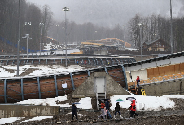 The Sanki Sliding Centre, venue for the Sochi 2014 Olympic bobsleigh, luge and skeleton, pictured in February 2013 ©Getty Images