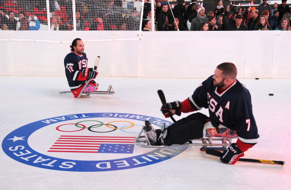 The United States have beaten Canada in their three-game ice sledge hockey series ©Getty Images
