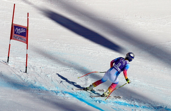 Lindsey Vonn aggravated her surgically repaired knee during an event at Val-d'Isère in December ©Getty Images