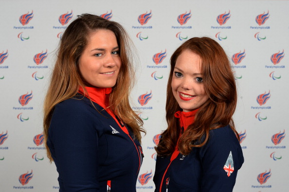 Jade Etherington (right) has one her second gold in as many days at the IPC Alpine Skiing World Cup in Tignes ©Getty Images