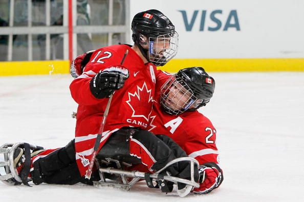 Greg Westlake and Brad Bowden will both be competing for the Canadian ice sledge hockey team at the Sochi 2014 Paralympic Games ©Getty Images